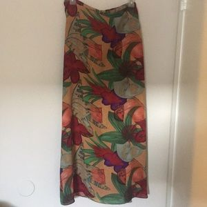 Long floral skirt in Autumn colors